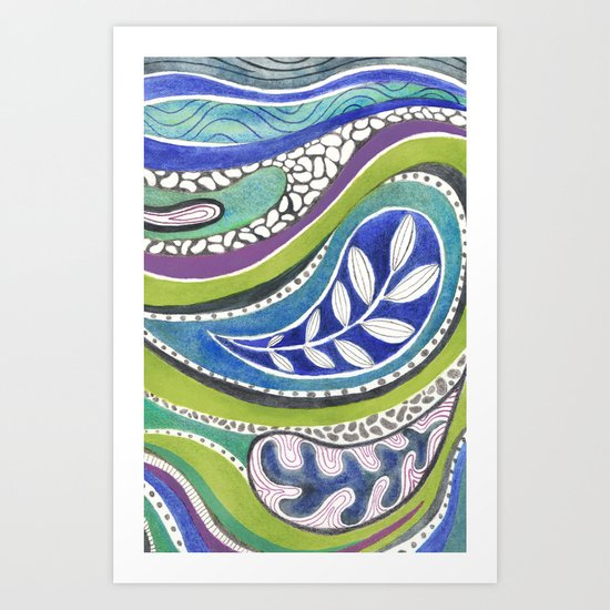 Patterned Nature Art Print