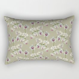 Orchid Watercolor Painting Rectangular Pillow