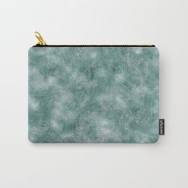 Teal Green Marble Texture Carry-All Pouch