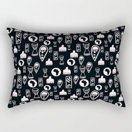 Black and White Tribal pattern. . Rectangular Pillow