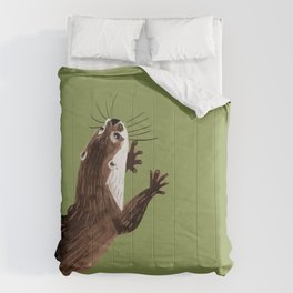 Asian small-clawed otter Green Comforters