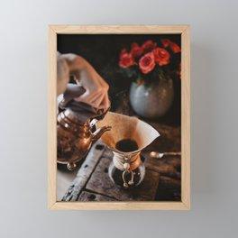 Espresso In The Making Framed Mini Art Print