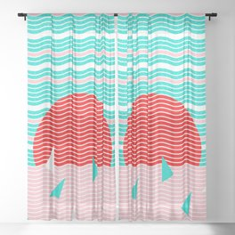 Hello Ocean Summer Dreams Sheer Curtain