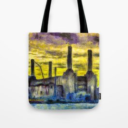 Battersea Power Station Van Gogh Tote Bag