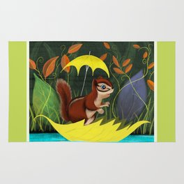 Chipmunk's Amazing Rainy Day Adventure Rug