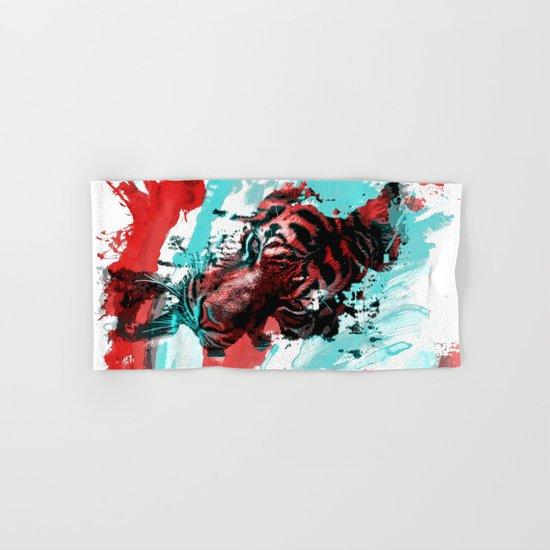 Tiger blue red 4 Hand & Bath Towel
