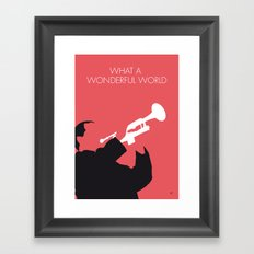 No012 MY LOUIS ARMSTRONG Minimal Music poster Framed Art Print