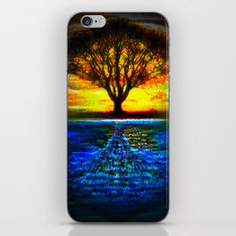 Duality Tree of Life Reflection Moon & Sun Day & Night Painting by CAP iPhone Skin
