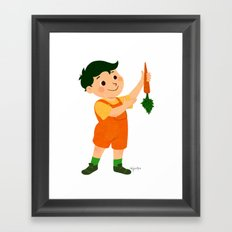 Carrot Framed Art Print
