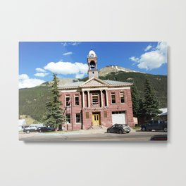 Gold Rush Era Town - Silverton City Hall, built in 1908 Metal Print