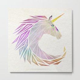 unicorn cercle Metal Print