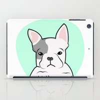 frenchie iPad Cases featuring Frenchie by Pati Designs