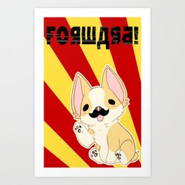 Comrade Corgi Art Print