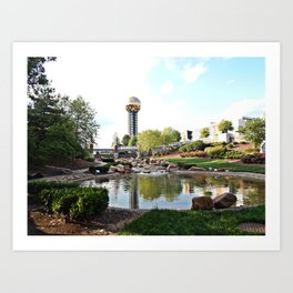 Knoxville Sunsphere 2 Art Print