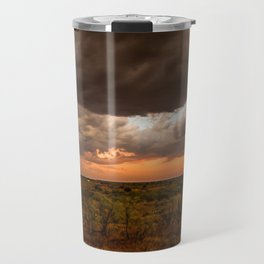 West Texas Sunset - Colorful Landscape After Storms Travel Mug