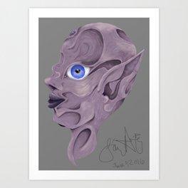 The Indents Art Print