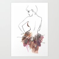 chic Art Prints featuring Chic by Sarah Soh