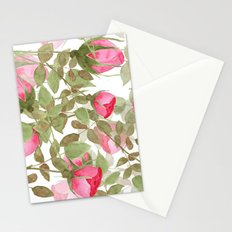 The buds of tender roses on a white background . Retro . Stationery Cards