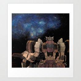 Chromedome & Rewind Art Print