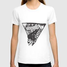 Psychoville black ink drawing T-shirt