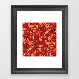 Red Paisley Framed Art Print