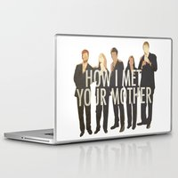 how i met your mother Laptop & iPad Skins featuring How I Met Your Mother by Evelyn Gonzalez