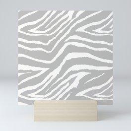 ZEBRA 2 GRAY AND WHITE ANIMAL PRINT Mini Art Print