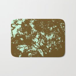 Mint and Brown Forest Bath Mat