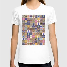 Hand Drawn Floral Patchwork T-shirt