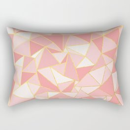 Ab Out Blush Gold Rectangular Pillow