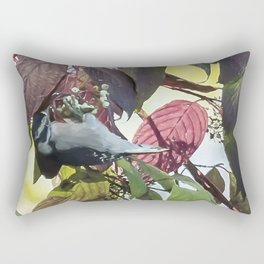 Downy Woodpecker Rectangular Pillow