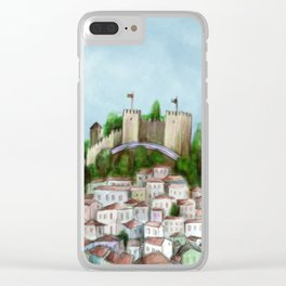 Lisboa landscape Clear iPhone Case