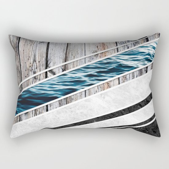 Striped Materials of Nature I Rectangular Pillow