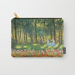 Claude Monet The Artist's Family In The Garden Carry-All Pouch