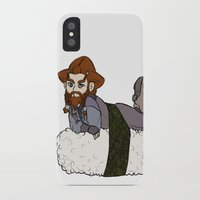 nori iPhone & iPod Cases featuring Nori on a Sushi by BlueSparkle
