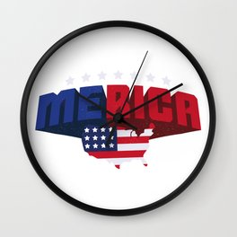 4th Of July Independence Day Merica Wall Clock