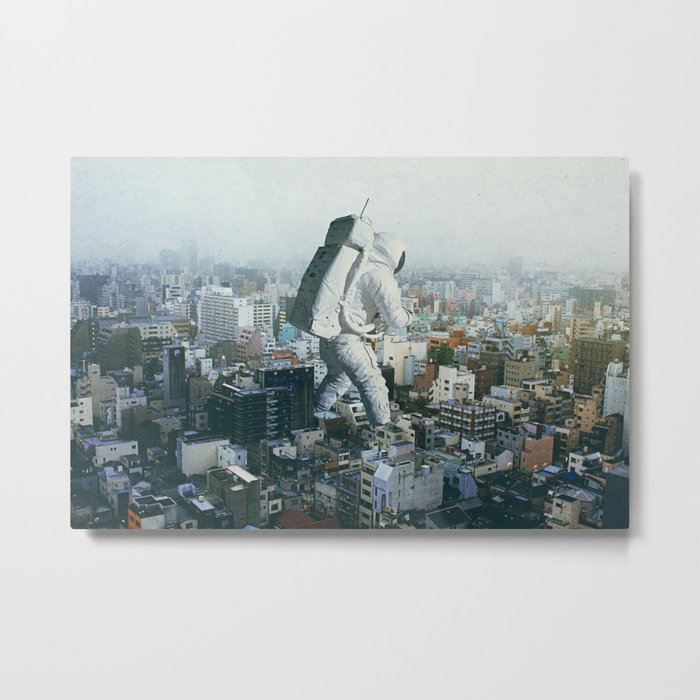 Stepping On Metal Print
