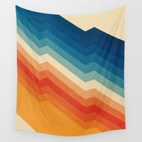 abstract Wall Tapestries featuring Barricade by Tracie Andrews