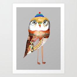 Hat Owl. Art Print
