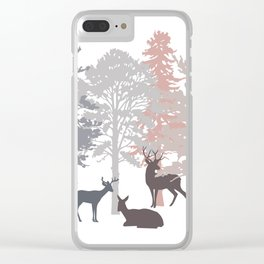 Morning Deer In The Woods No. 2 Clear iPhone Case