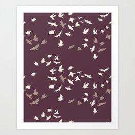 aves chatter night Art Print