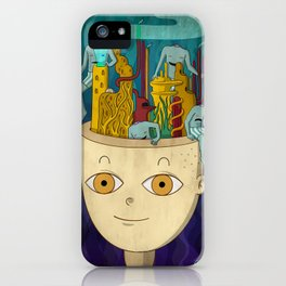 Mundo de cabeza iPhone Case