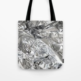Silver Mylar Balloon Tote Bag