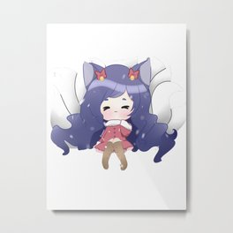 Snowdown Ahri Metal Print