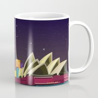 sydney Mugs featuring Sydney by GoFe