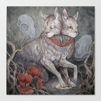 caitlin hackett Canvas Prints featuring Forget Me Not by Caitlin Hackett