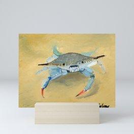 Blue Crab Art By Daniel MacGregor Mini Art Print