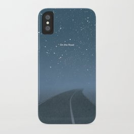 "Jack Kerouac ""On the Road"" - Minimalist literary art design, bookish gift iPhone Case"