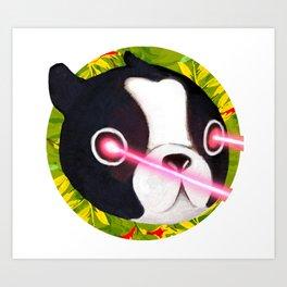 Boston Terrier Laser Art Print