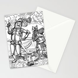 The Death of Knight Cat Stationery Cards